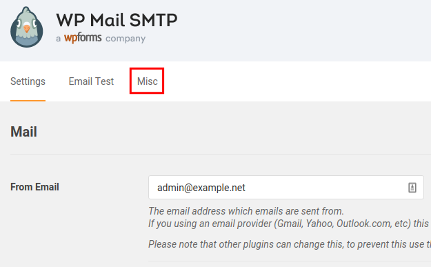 misc uninstall settings wp mail smtp