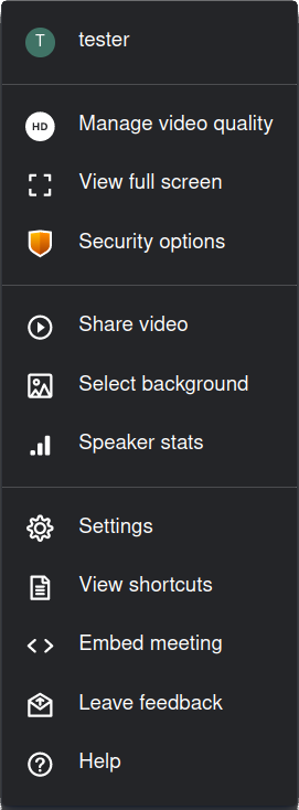 Jitsi settings for moderated users