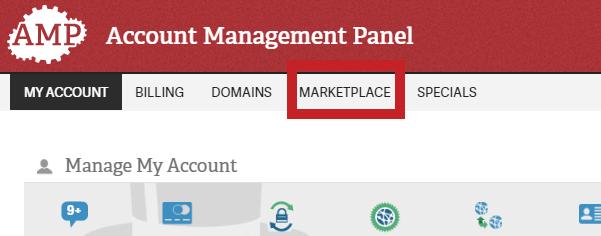 amp marketplace header link
