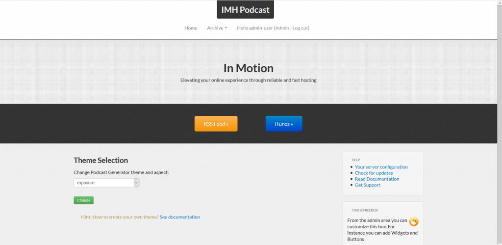 podcast generator theme exposure