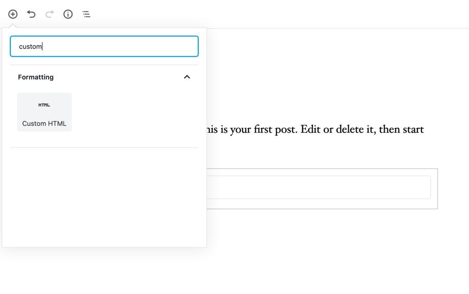 code editor custom html search