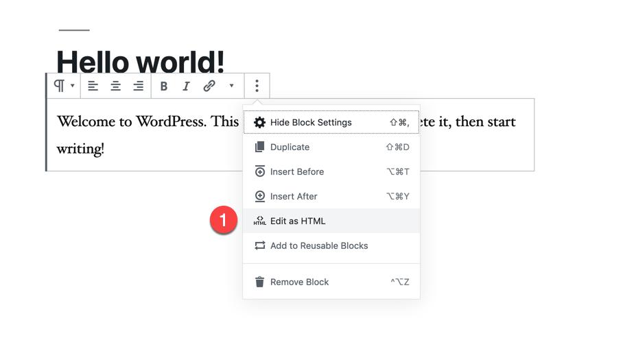 code editor select edit html block1