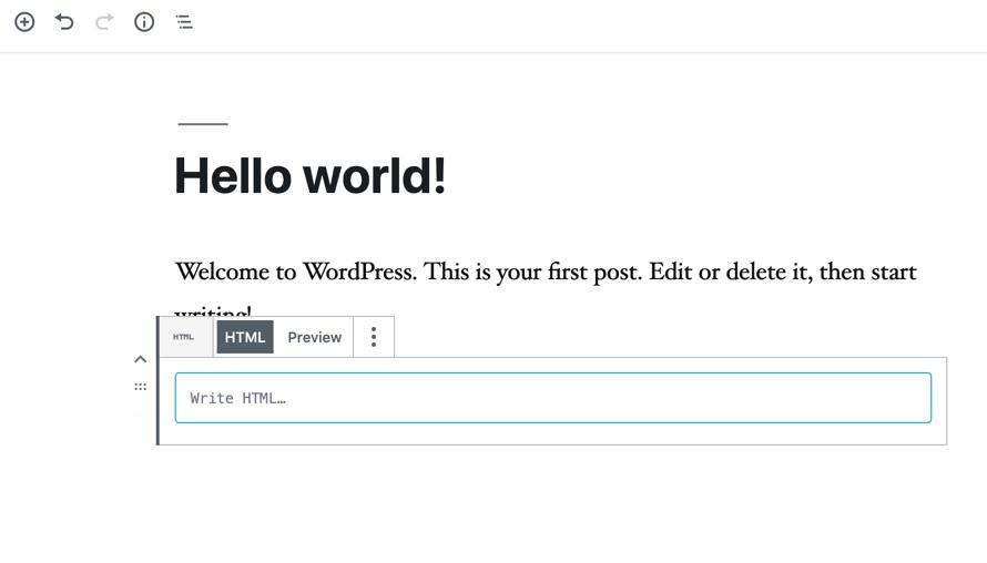 code eitor custom html appearance