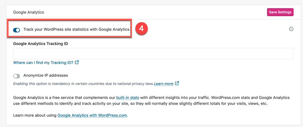 Connecting with Google Analytics in Jetpack