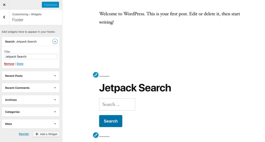 jetpack search widget