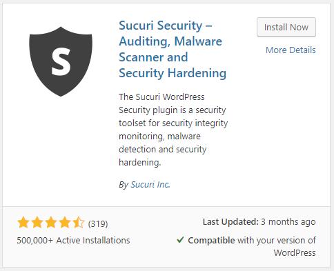 sucuri wp plugins install now