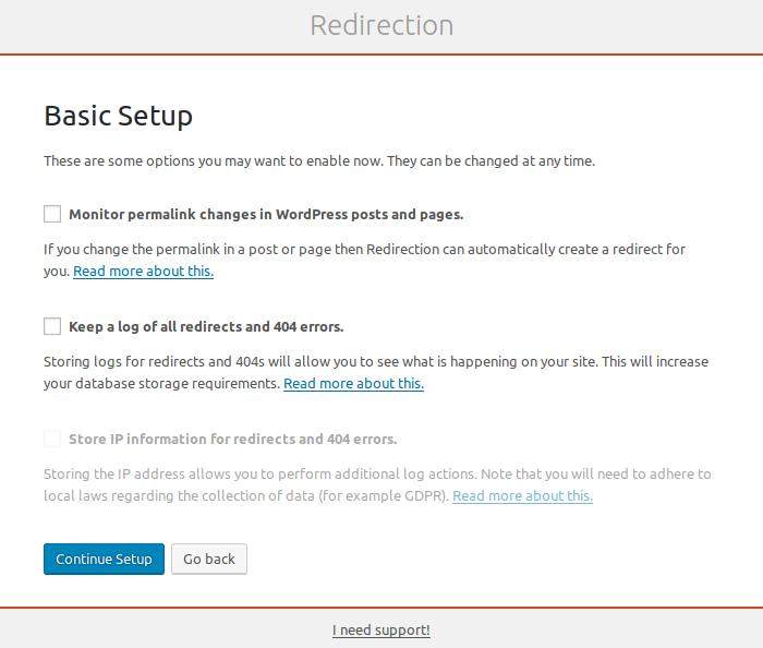redirection setup basics