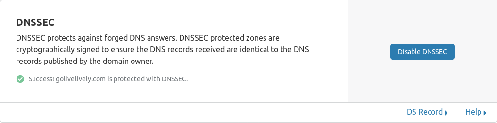 cloudflare dnssec enabled