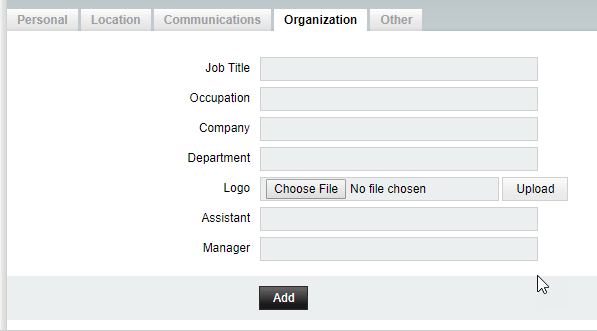 horde address book organization