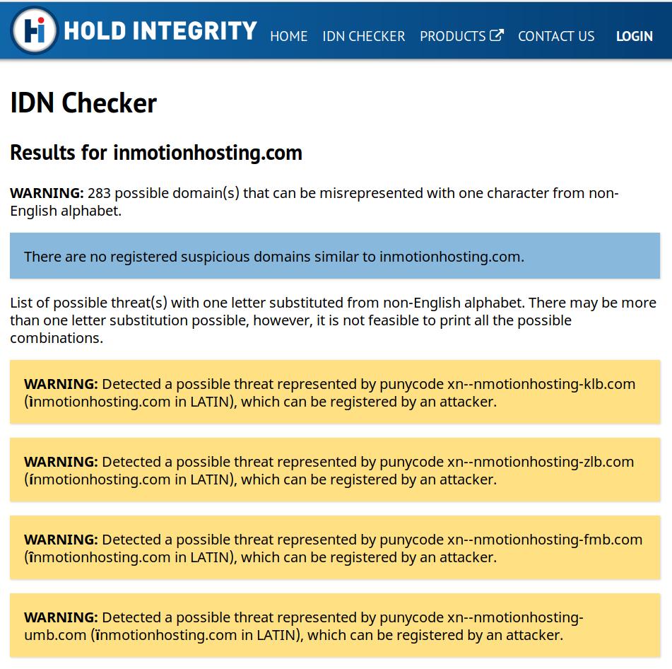 idn checker results