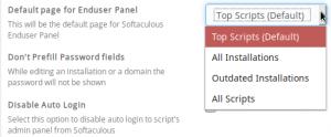 softaculous default page