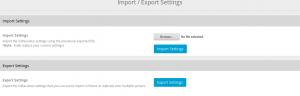 softaculous import export settings