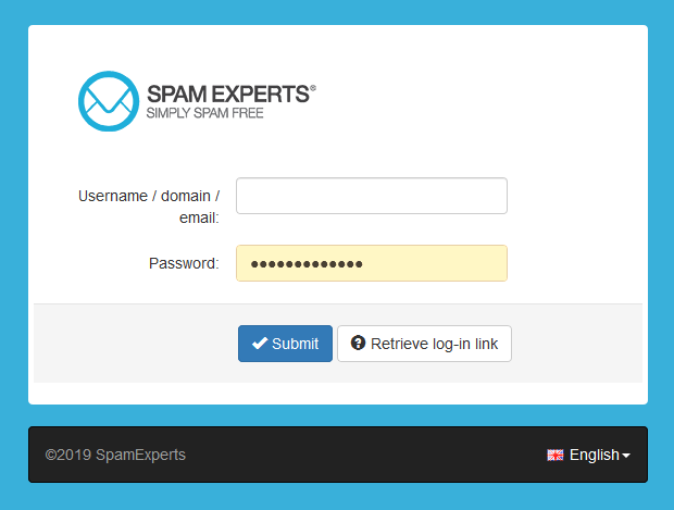 spam experts login