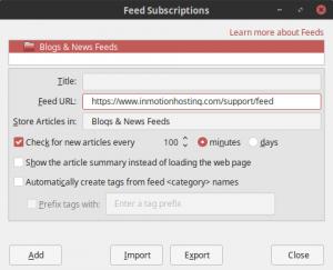 thunderbird feed subscription