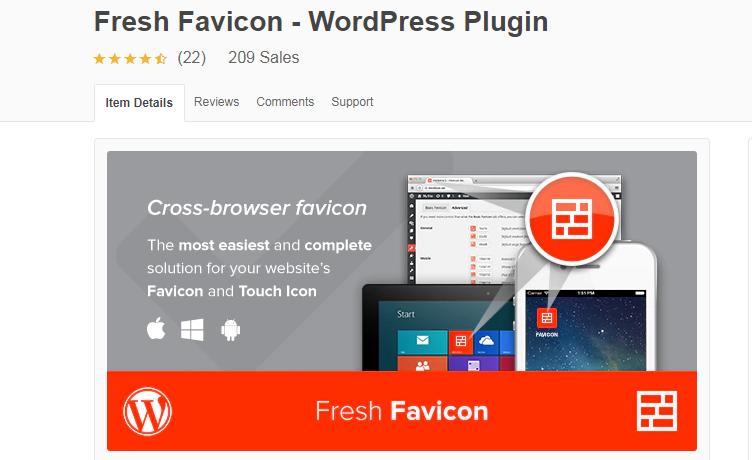Fresh Favicon WordPress Plugin by FRESHFACE CodeCanyon