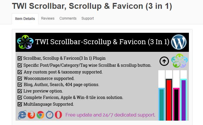 TWI Scrollbar Scrollup Favicon 3 in 1 by twibd CodeCanyon