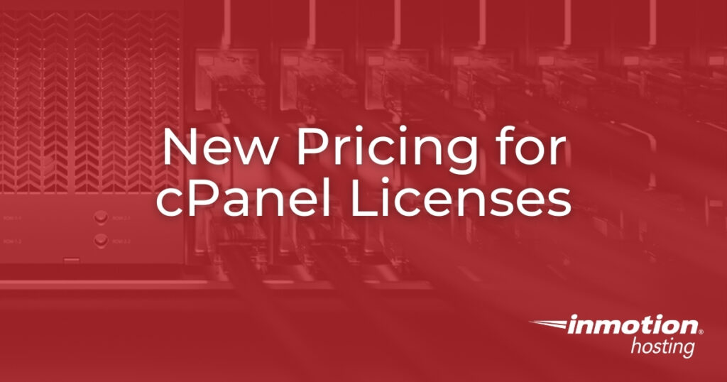 New Pricing for cPanel Licenses