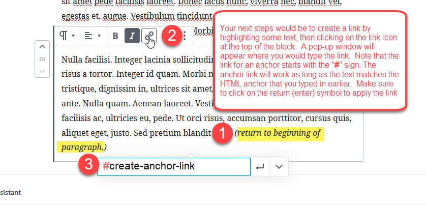 creating anchor links 2 1