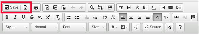 Edit HTML Code - Saving Changes
