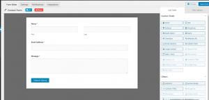 screenshot of weForms form builder