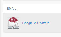 Google MX Wizard Icon in cPanel