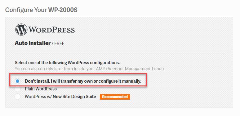 WordPress shared server configuration