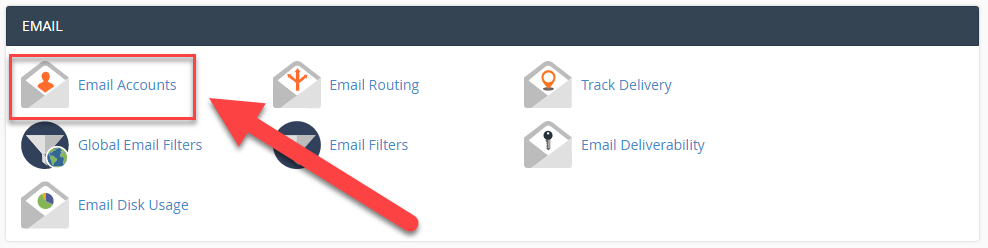 email account in cPanel