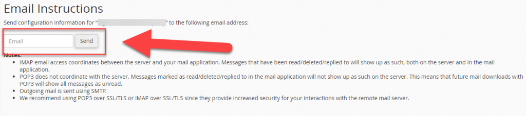 email instructions
