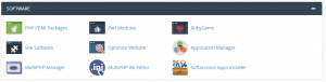 software in cPanel