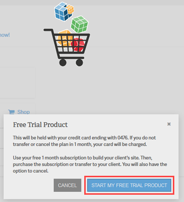 WebPro free trail confirmation