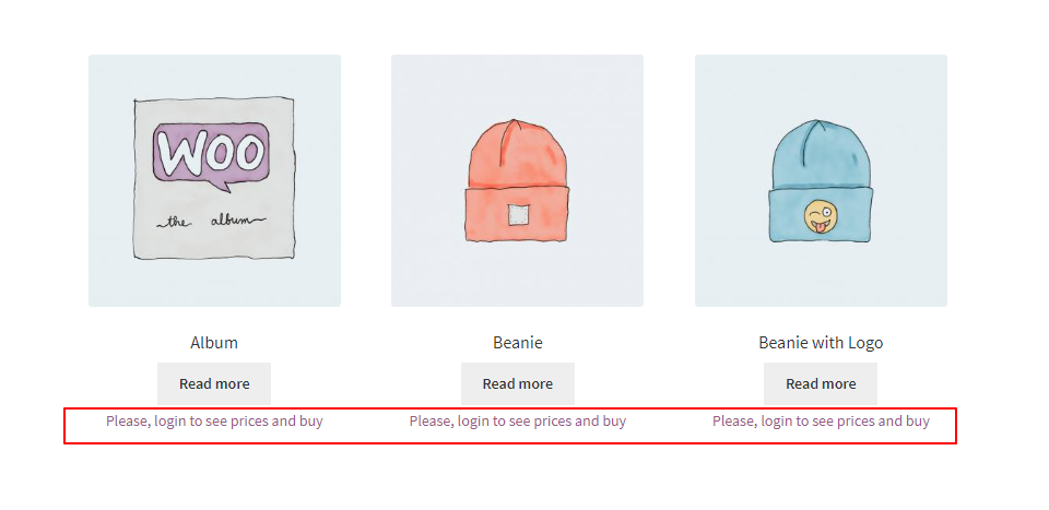 WooCommerce B2B price hidden from guest