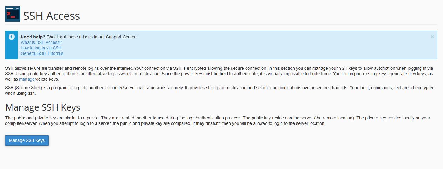 Manage SSH