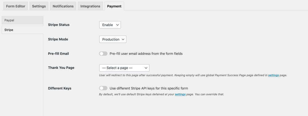 payment settings tab 2