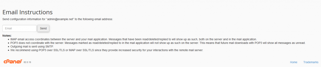 shared server email instructions