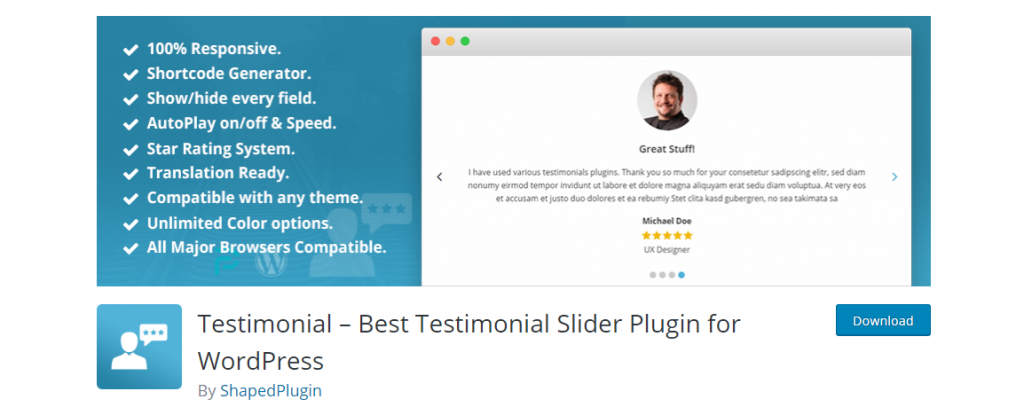 Testimonial – Best Testimonial Slider Plugin for WordPress – WordPress plugin WordPress org