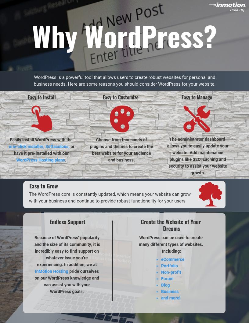 What is WordPress  InMotion Hosting