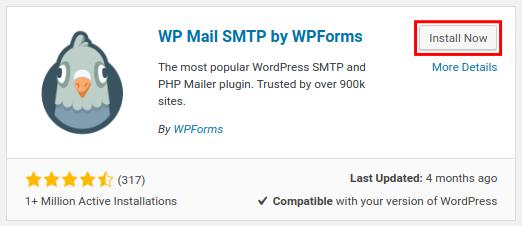 Install WP SMTP plugin