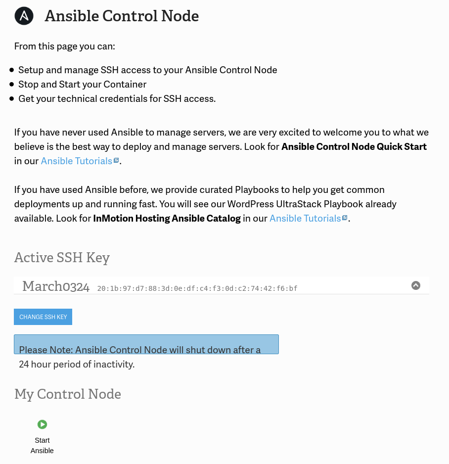 Accessing your Ansible Control Node
