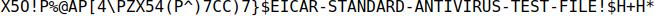 EICAR standard antivirus text file