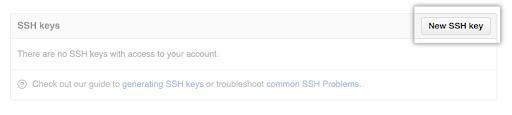 github new ssh key