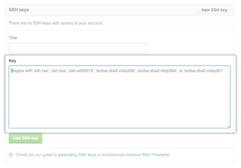 github ssh key paste
