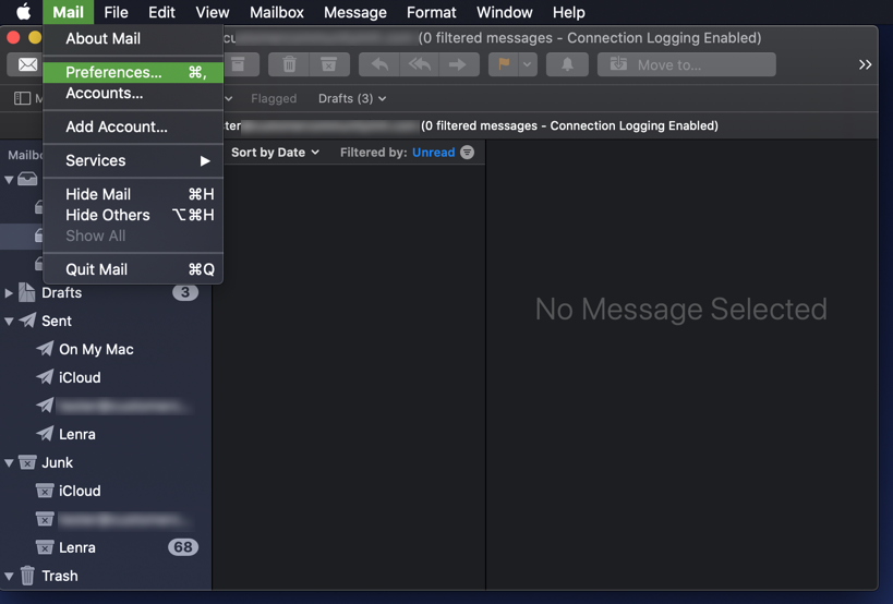 Select Mail preferences