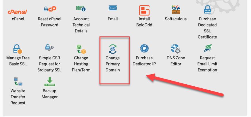 Change Primary Domain Icon