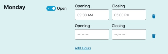 split hours