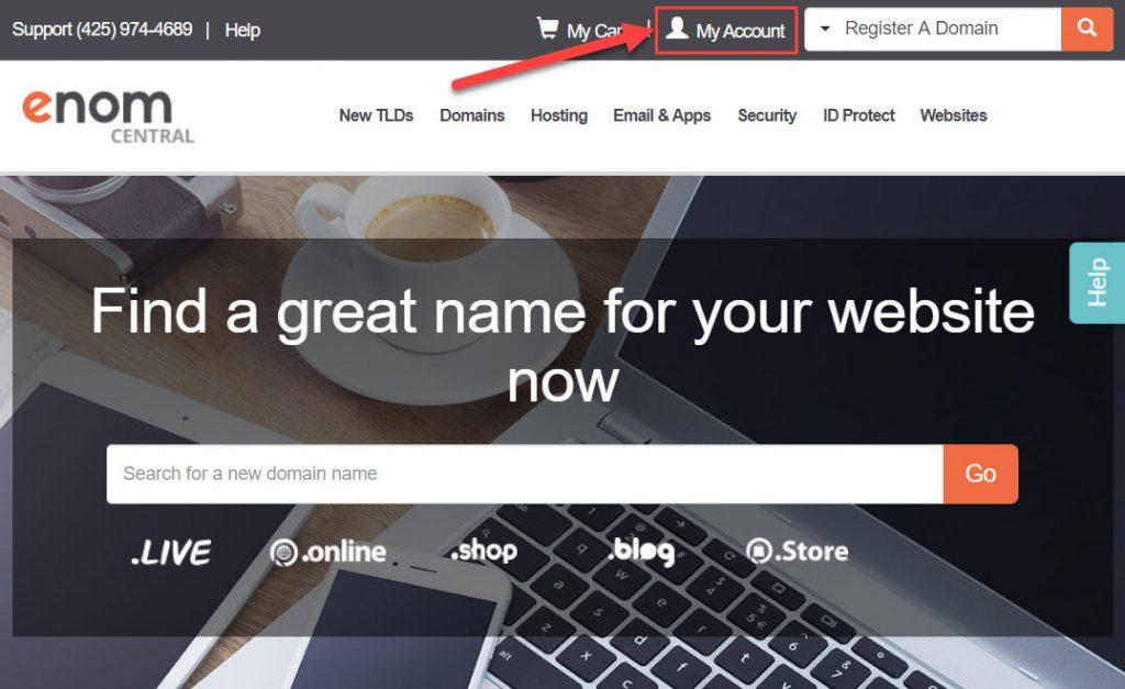 eNomCentral website