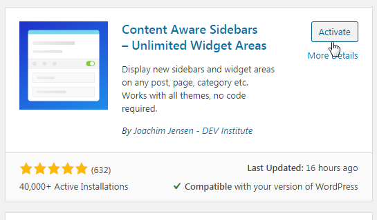 Download sidebar aware
