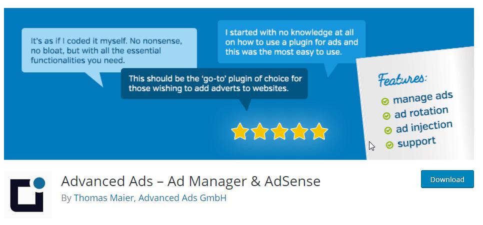 Advance ad wordpress plugin