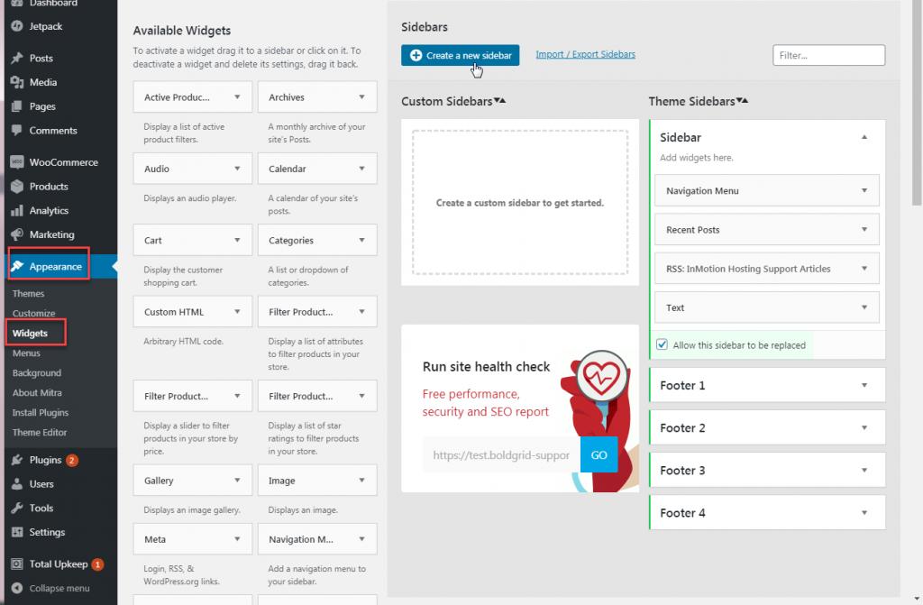 Add new sidebar with custom sidebar plugin