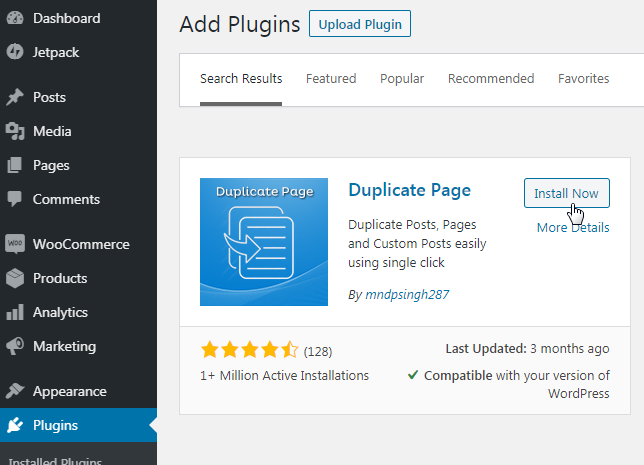 download duplicate page plugin