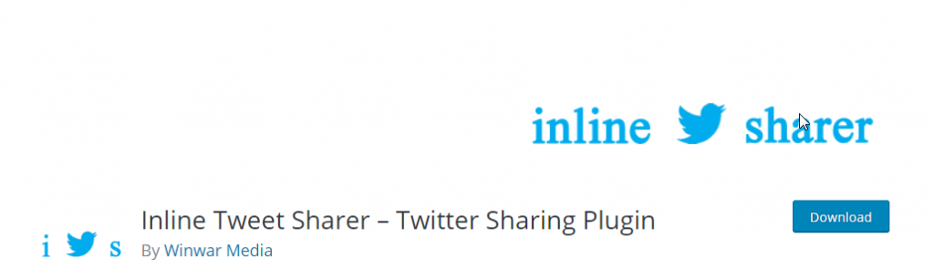 Inline twitter sharer plugin for WordPress